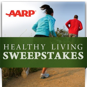 AARP Healthy Living Sweepstakes!! Enter to win Grand Prize and Daily Prizes! Open to Americans 45 yrs of age or older!! ends 9/25