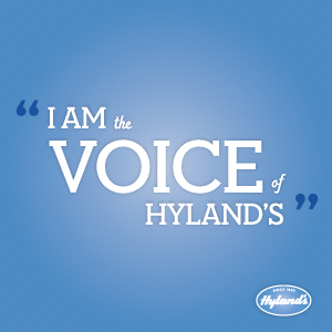 I AM the Voice of Hyland's! Giveaway ends 9/25 US only