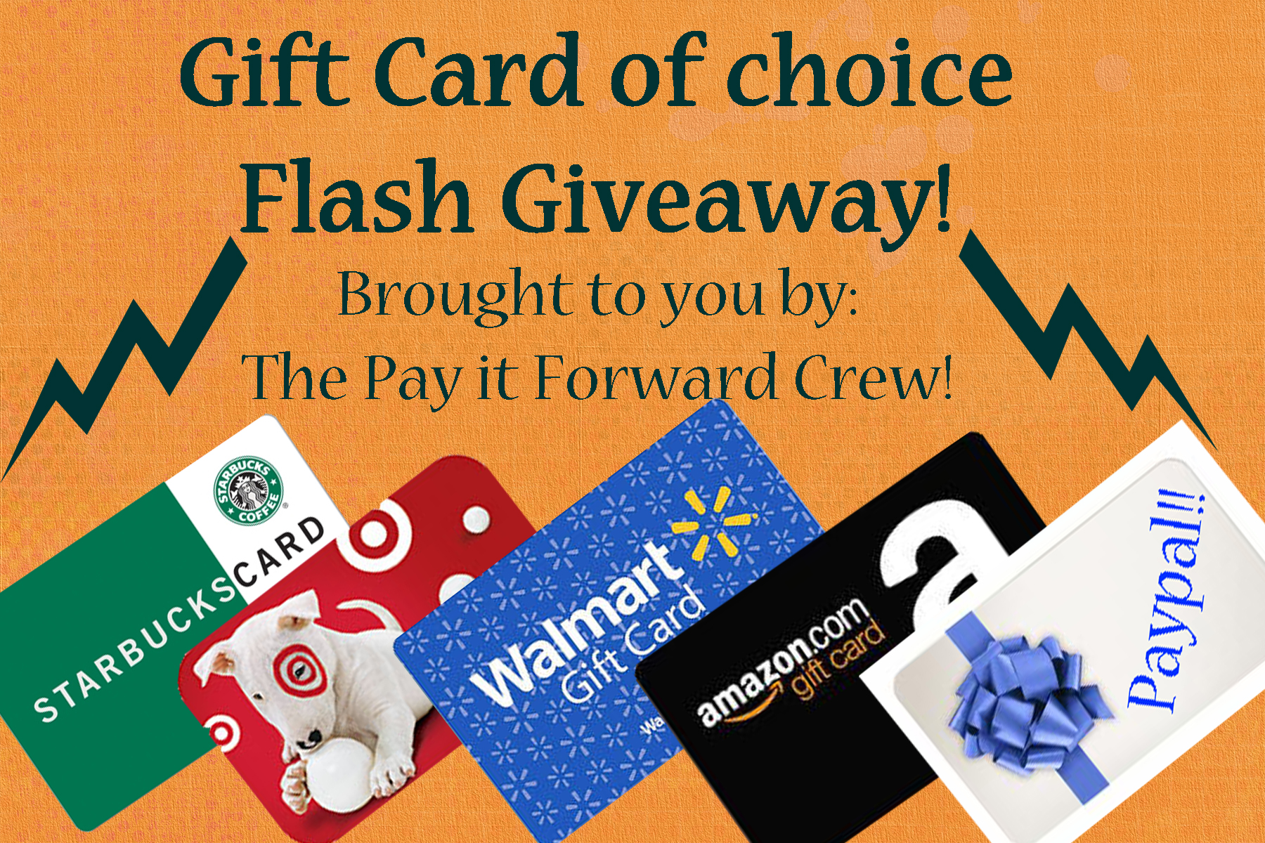 $30 4 hour flash Gift Card Giveaway!! open ww