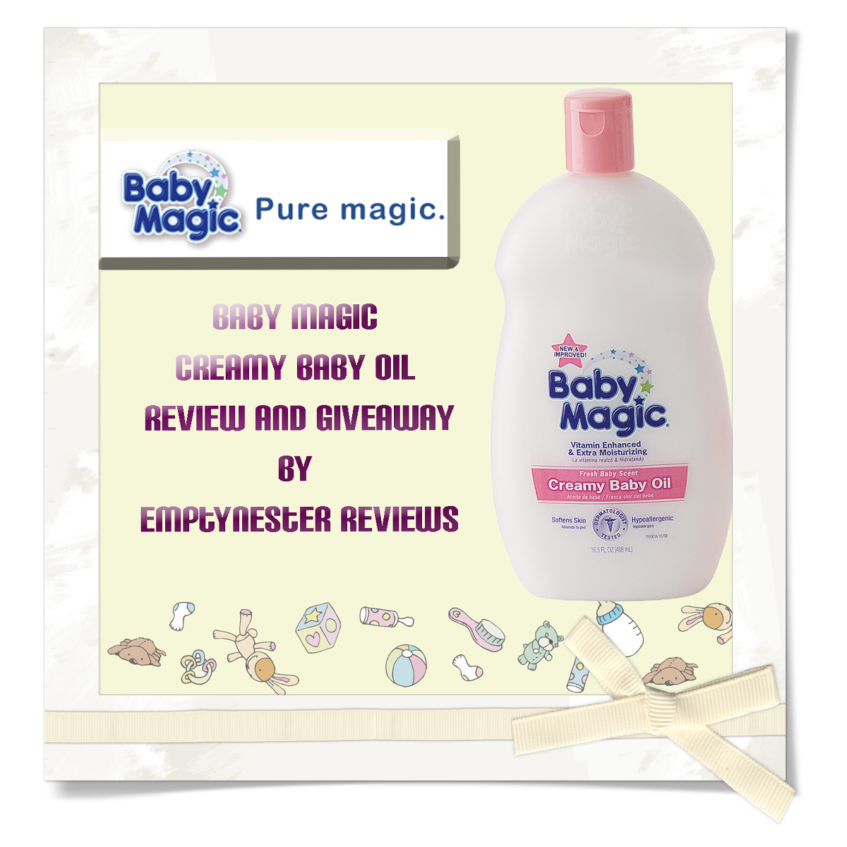 Baby Magic Creamy Baby Oil Review and Giveaway