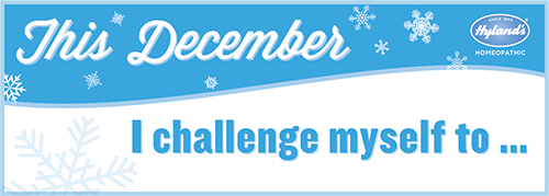 Join Hyland's Holiday Wellness Challenge AND get some cool sample and discount opportunities!!