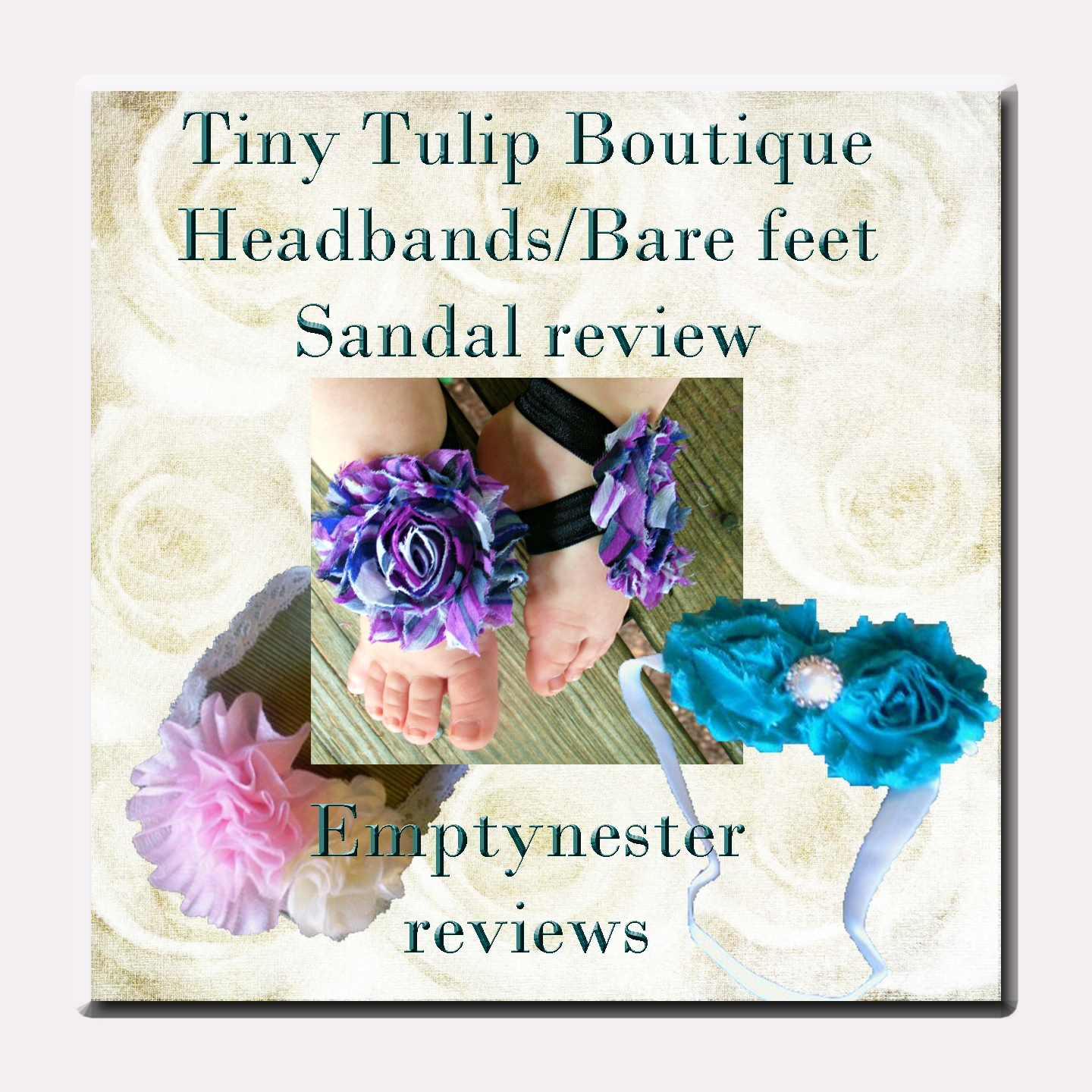 Headbands and Bare Feet sandal bows from Tiny Tulip Boutique Review ~ Get yours for the Holidays!!