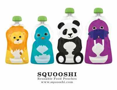 #Squooshi reusable food pouches for kids! Check them out and get a free set of caps!