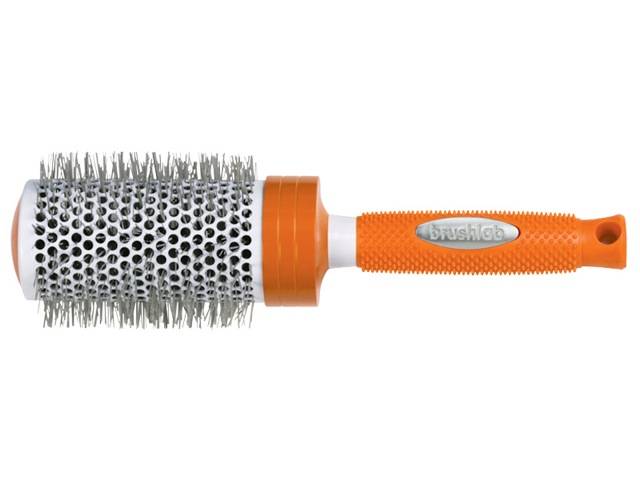 Brushlab Orange Ceramic Thermal Large Hair Brush Review GREAT SMOOTHING STRAIGHTENER!