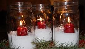 Holiday Mason Jar candles