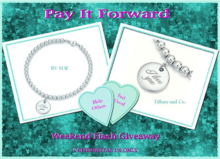 WEEKEND FLASH TIFFANY & CO. I Love You Charm & Bracelet #Giveaway ends  1/13 US only
