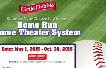 Little Debbie 'Home Run Home Theater' Sweepstakes