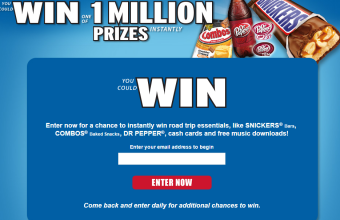 M&M'S BRAND 2015 Roadtrip Instant Win Game