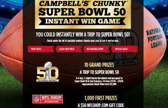 Campbell's SuperBowl 50 Instant Win Game