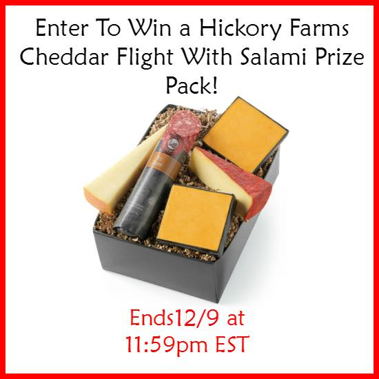 *GIVEAWAY*-Hickory Farms Cheddar Flight with Salami prize pack