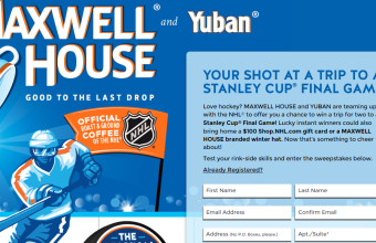 Maxwell House 'Ultimate Hockey Fan' Instant Win Game