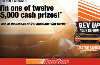 AutoZone 'Tax Time' Instant Win Game