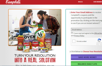 Campbell's 'RealSolutions' Instant Win Game