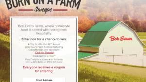 "Bob Evans ""Born on a Farm"" Instant Win Game"