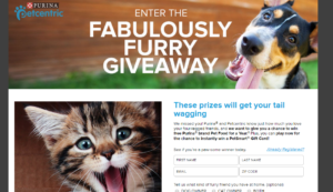 Purina 'Fabulously Furry' Instant Win Game