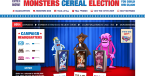 General Mills 'Monsters Election' Instant Win Game