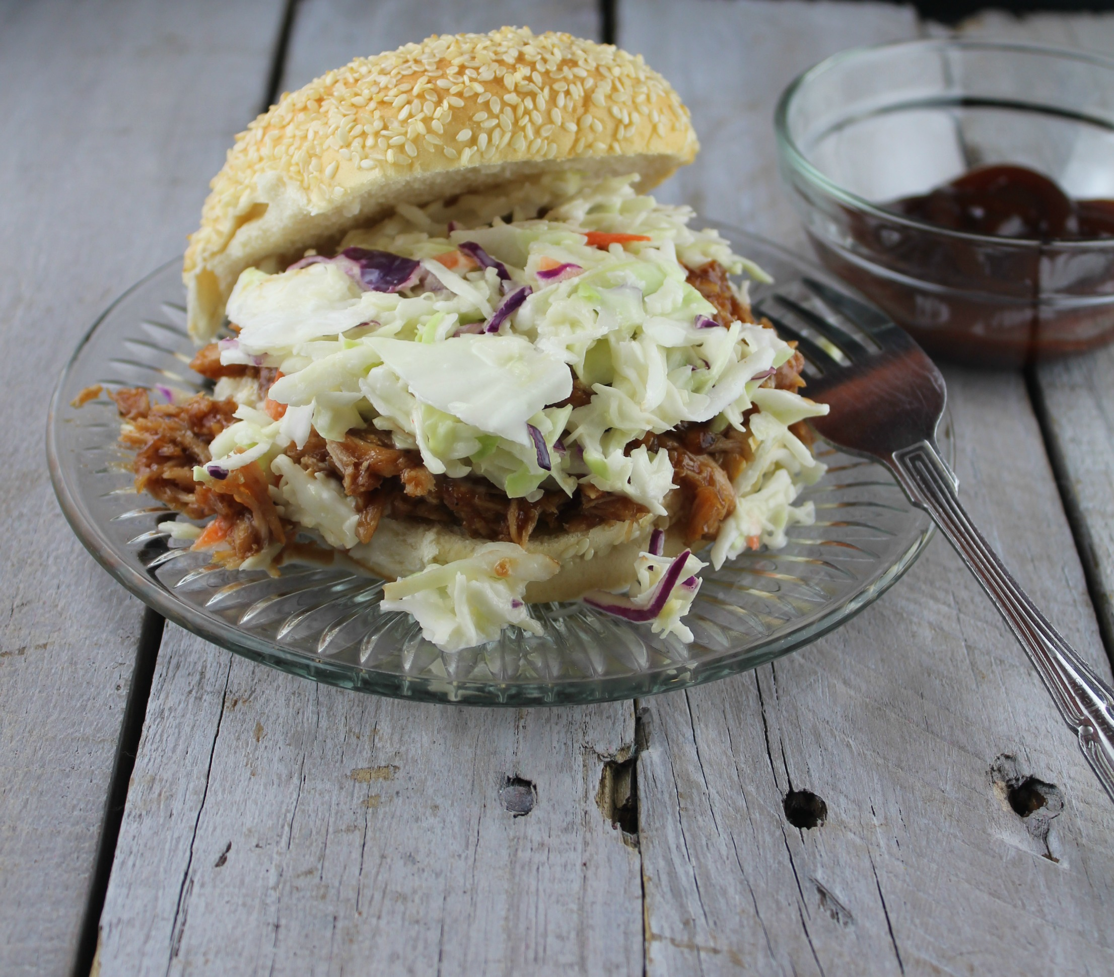 Pulled Pork Cole Slaw Sandwich
