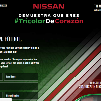 Nissan Soccer Instant Win Game